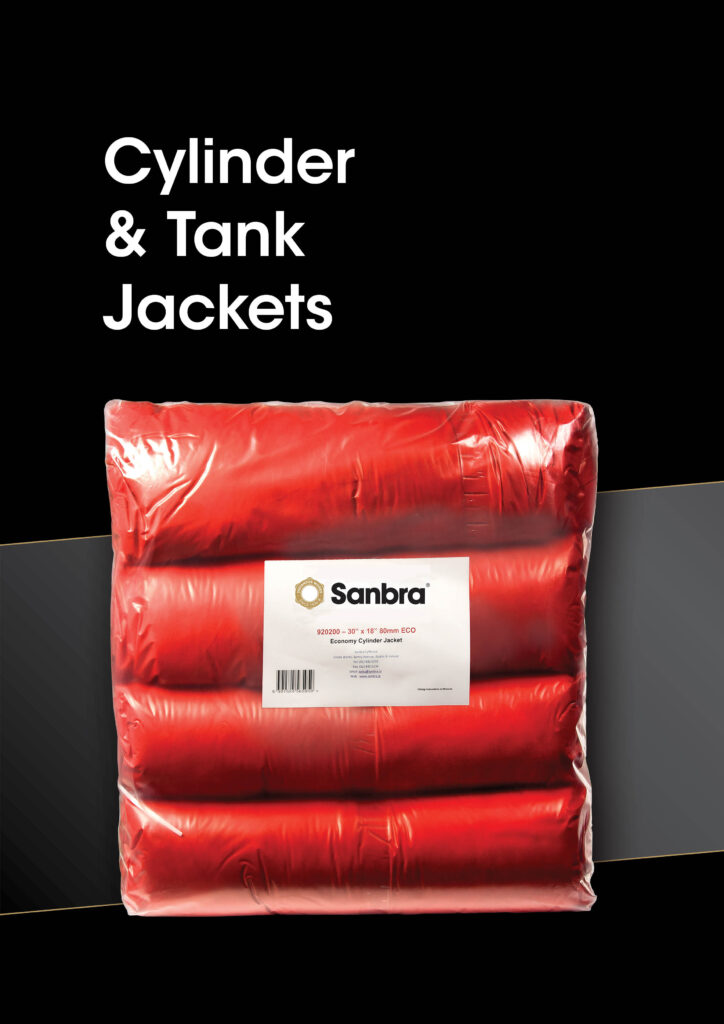 Sanbra cylinder and tank jackets brochure cover