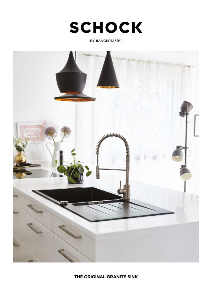Schock sinks by Rangemaster are distributed by Sanbra Fyffe